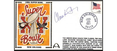 Super Bowl 1981 Artpiece (Claude Humphrey Autograph)
