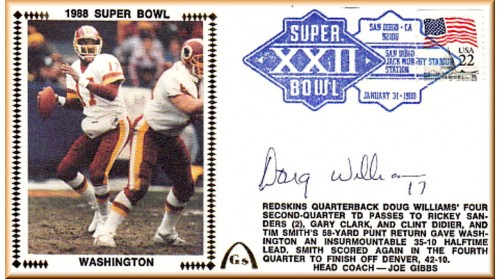Super Bowl 1988 Autographed by Doug  Williams (Williams Photo)