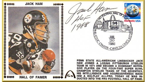 Ham, Jack Hall Of Fame,  (Only 20 Signed With HOF 1988 - Ten Left In Stock )