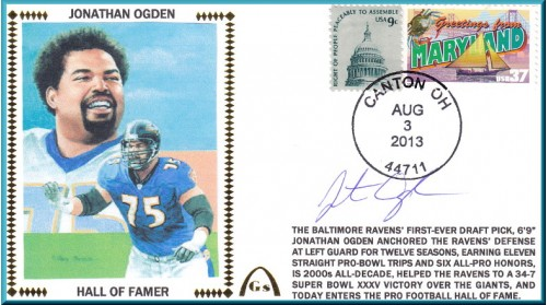 Ogden, Jonathan Hall of Fame (FEW Autographs Remain In Stock)