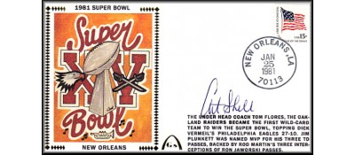 Super Bowl 1981 Artpiece (Art Shell Autograph)