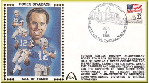 Staubach, Roger Hall Of Fame - Unautographed