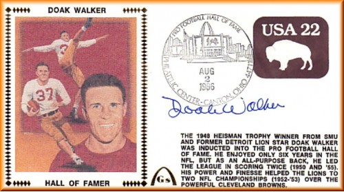 Walker, Doak Hall Of Fame (Brown Embossed $.22 Stamp Variation - SOLD OUT)