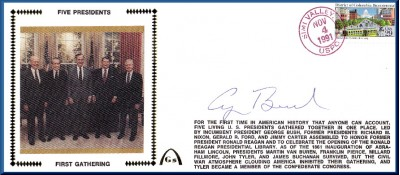 1st Gathering Of Five Presidents (Auto By Pres. H.W.Bush) SPECIAL SALE