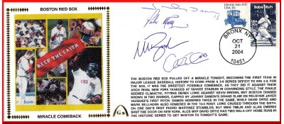 Boston Miracle Comeback  (Damon, Ortiz, Bellhorn, Embree - ( (SOLD OUT)