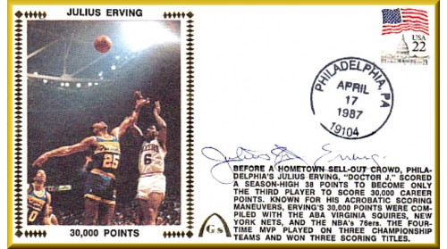 "Erving, Julius ""Dr. J"" (30,000 Points) Regular Stamp"