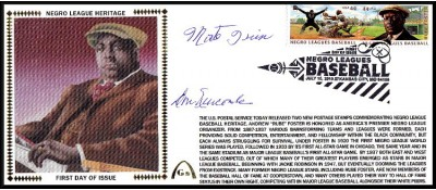 Negro League Hertiage FDC  - Large #10 (Newcombe/Irvin-B)