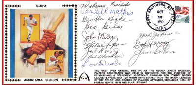 Negro League Players Assistance Reunion (Blue Silk-12Autos.)
