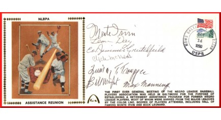 Negro League Players Assistance Reunion (Brown Silk - 6 Autos)