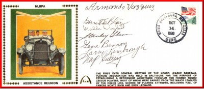 Negro League Players Assistance Reunion (Green Silk-8Autos)