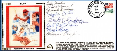 Negro League Players Assistance Reunion (Red Silk-8Autos)