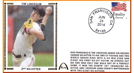 Lincecum, Tim 2nd No-Hitter - Unautographed