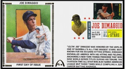 Hall Of Hamers - DiMaggio, Doby, Stargell, Williams FDC Set