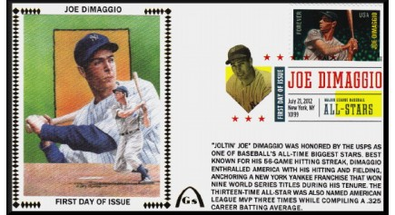 Hall Of Famers FDC - DiMaggio, Joe
