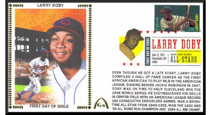 Hall Of Famers FDC - Doby, Larry Unautographed)
