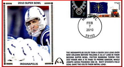 Super Bowl 2010 ( Peyton Manning) -UNAUTOGRAPHED