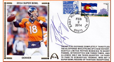 Super Bowl 2014 ( Peyton Manning)  UNAUTOGRAPHED