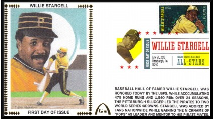 Hall Of Fame FDC - Stargell, Willie