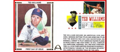 Hall Of Fame FDC - Williams, Ted (Unautographed)