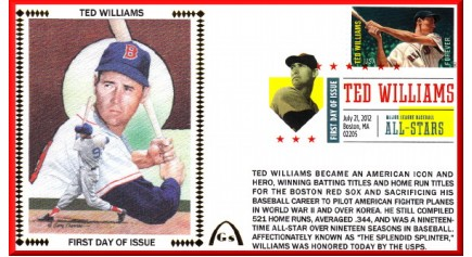 Hall Of Fame FDC - Williams, Ted