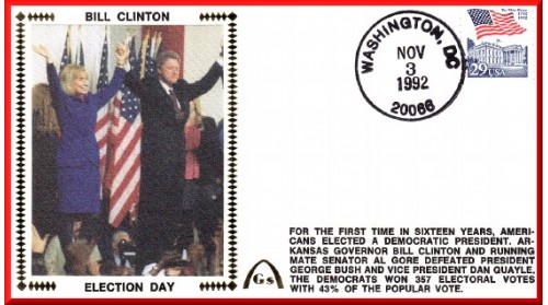 Clinton, Bill/Gore, Al Election + Inauguration (Set Of Two)