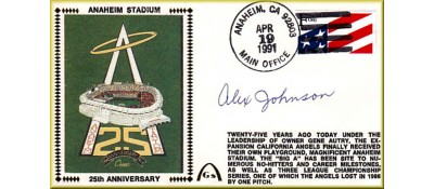 Anaheim Stadium 25th Anniversary Autographed Alex Johnson