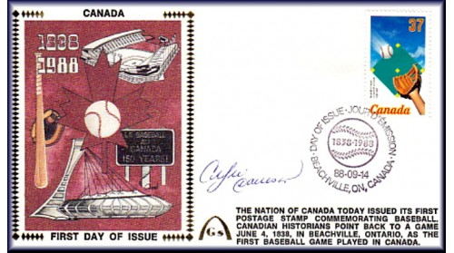 Canadian Baseball Stamp FDC Art Auto Andre Dawson (Only 2 Left)