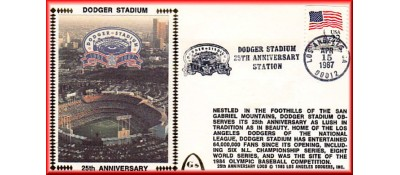 Dodger Stadium 25th Anniversary (April 15th Flag Stamp) Unautographed