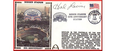 Dodger Stadium 25th Anniversary (April 14th Flag Stamp) Autographed By Hal Lanier (Only One Left - NO Discount)