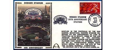 Dodger Stadium 25th Anniversary (April 10th Red Pan Am Stamp) Unautographed