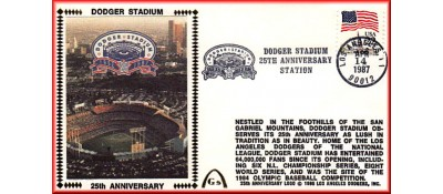 Dodger Stadium 25th Anniversary (April 14th Flag Stamp) Unautographed