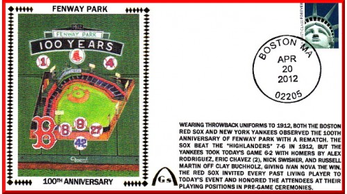Fenway Park 100th Anniversary #6 (Unautographed)