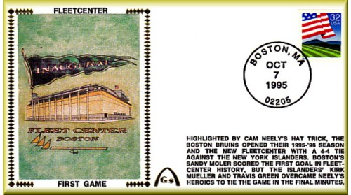 Boston Fleet Center (1st Game) Unautographed