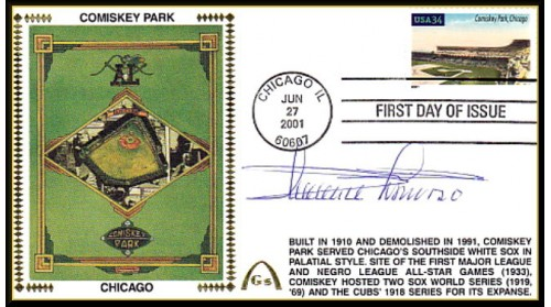 Legendary Playing Fields FDC Comiskey Park (Minnie Minoso) ONLY 1 - Hand Cancel -No Discount