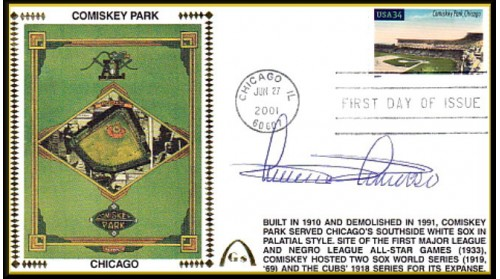 Legendary Playing Fields FDC Comiskey Park (MINNIE MINOSO) ONLY 1 - Machine Cancel -No Discount