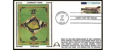 Legendary Playing Fields FDC Set of 10  Unautographed) Hand Canncel