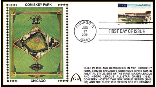 Legendary Playing Fields FDC Comiskey Park (Unautographed) Hand Cancel