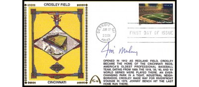 Legendary Playing Fields FDC Crosley Field  (JIM MALONEY)   Machine Cancel