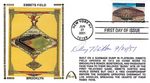 McDevitt, Danny Autographed  Legendary Playing Fields  FDC (Ebbets Field) Hand Cancel