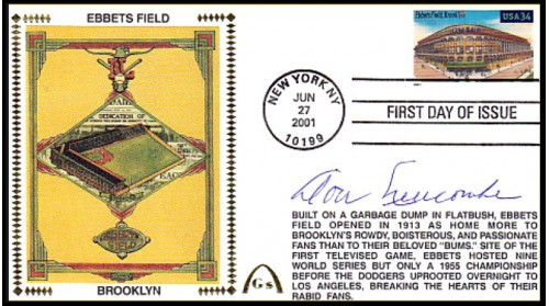Newcombe, Don Legendary Playing Field FDC (Ebbets Field) Hand Cancel