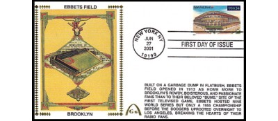 Legendary Playing Fields FDC Ebbets Field ( Unautographed) Hand Cancel