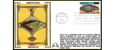 Legendary Playing Fields FDC Ebbets Field (Unautographed) Machine Cancel
