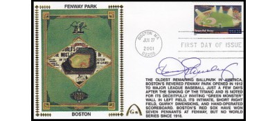 Legendary Playing Fields FDC Fenway Park  (Machine Cancel) Dennis Eckersley
