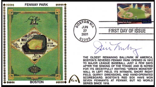 Legendary Playing Fields FDC Fenway Park (Hand Cancel) Jim Lonberg