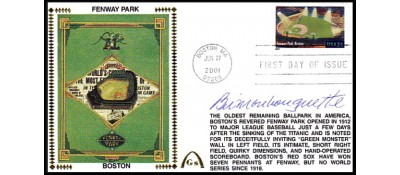 Legendary Playing Fields FDC Fenway Park (Meter Cancel) Bill Monbouquette