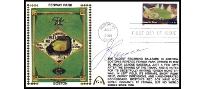 Legendary Playing Fields FDC Fenway Park (Machine Cancel)  Jimmy Piersall