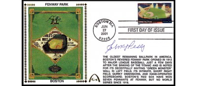 Legendary Playing Fields FDC Fenway Park ( Hand Cancel) Jimmy Piersall