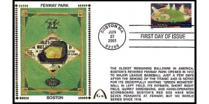 Legendary Playing Fields FDC Fenway Park (Unautographed)  Hand Cancel