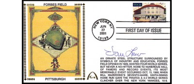 Legendary Playing Fields FDC Forbes Field Vern Law (Hand Cancel) - ONLY 3 LEFT