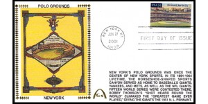 Legendary Playing Fields FDC Polo Grounds (Unautographed) Machine Cancel